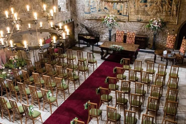 Allington Castle Great Hall Wedding