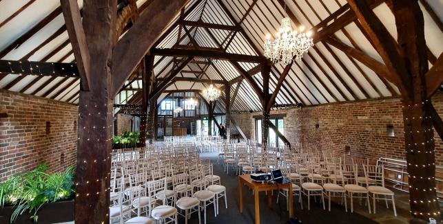 Corporate Event Allington Castle Barn Maidstone
